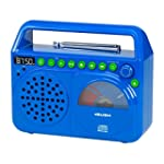 Bush Wave Boombox With CD Player - Blue