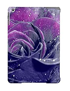 High Quality Shock Absorbing Case For Ipad Air-purple Rose