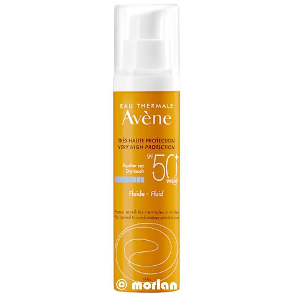 Avene Fluido Solare Protezione Viso Senza Profumo SPF50+ Pelle Sensibile 50 ml Avene Sole