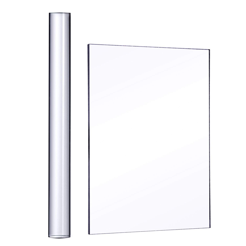 2/Piezas Xhuan Hoja acr/ílico Rodillo acr/ílico con Panel de Soporte de acr/ílico para Fresa y Sculpter