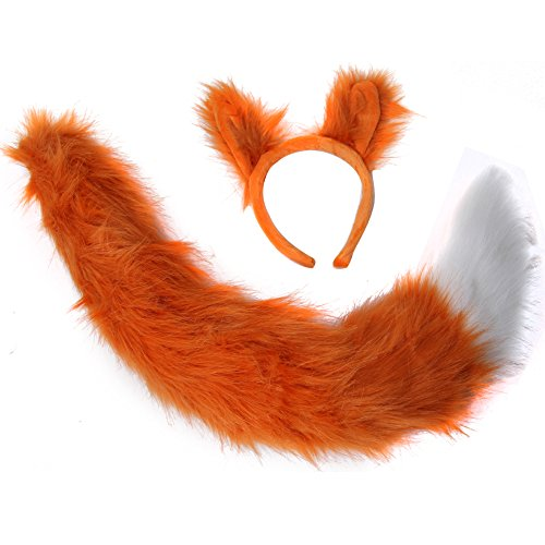 Oversized Fox Ears & Tail Costume -