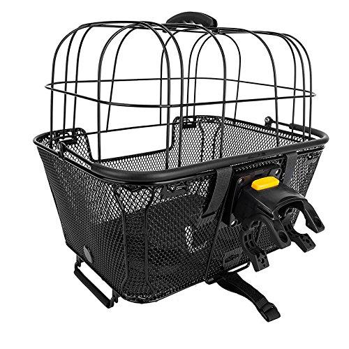 Sunlite RackTop/Handlebar pet Friendly QR Basket, 15.7 x 16.9 x 12'', Black