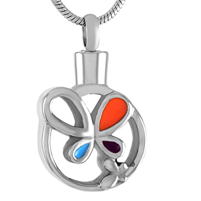 Perfect Memorials My Baby Round Stainless Steel Cremation Jewelry