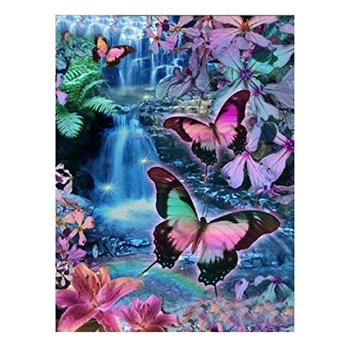 DIY 5D Diamond Painting Kit Full Drill Crystal Rhinestone Embroidery for Home Wall Decor Wall Sticker 30CM X 40CM Pansy YaphteS