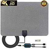 2019 Newest TV Antenna,Indoor Amplified Digital HDTV Antenna 120+ Mile Range with 4K 1080P HD VHF UHF Freeview TV for Life Local Channels Broadcast for All Types of Home Smart Television
