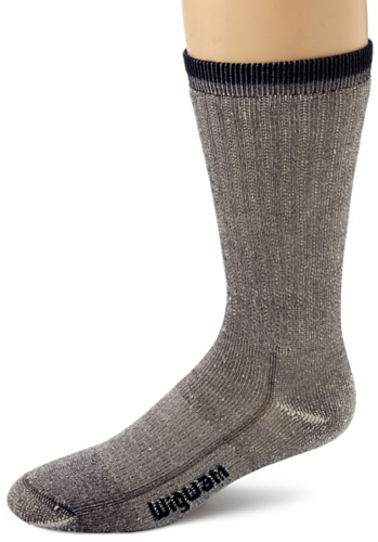 Wigwam Men's Merino Wool Comfort Hiker Crew Length Socks, Navy, Medium/Small ()