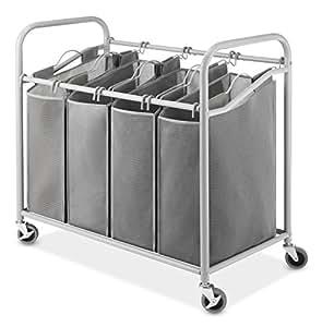 Amazon Com Whitmor Heavy Duty Laundry Sorter Storage With