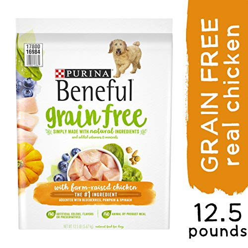 Purina Beneful Grain Free, Natural Dry Dog Food, Grain Free With Real Farm Raised Chicken – 12.5 lb. Bag