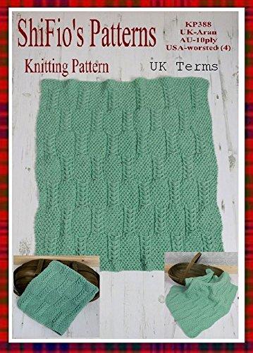 (Knitting Pattern - KP388 - baby afghan blanket - UK Terminology)