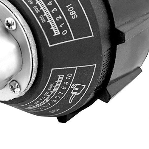 Beyondlife 1600W Plastic Welder Hot Air Welder Heating Gun PVC Vinyl Rod Welding Hot Gas Pistol Tool Kit with Two Flat Speed Nozzles by BeyondLife (Image #3)
