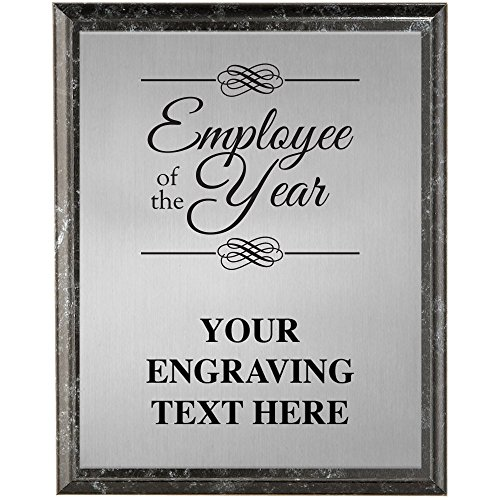 Corporate Plaques - 5 x 7 Employee of The Year Etched Recognition Trophy Plaque Award ()