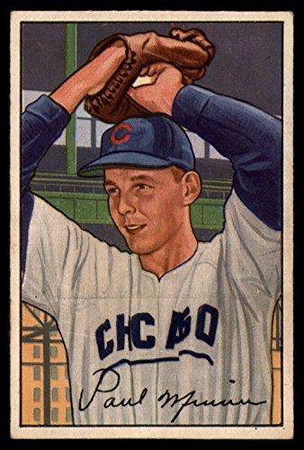 1952 Bowman #211 Paul Minner Cubs MLB Baseball Card (RC - Rookie Card) G/VG Good/Very Good ()