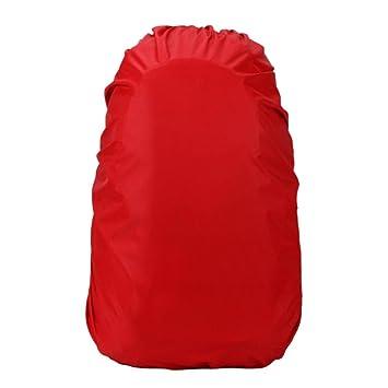 Ndier Cubierta de Lluvia,Funda Impermeable para Mochilas Escolares Bolsas para Equipaje Bolsas para Lluvia//Polvo Roja 35-40 L