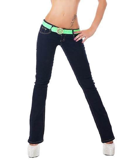 Señoras de la Mujer Denim Stretch Pantalones Vaqueros ...