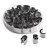 uxcell® A to Z 26pcs Stainless Steel Alphabet Letters Biscuit Cookies Cutters Molds Mini Shaped Mould Decorating Tool