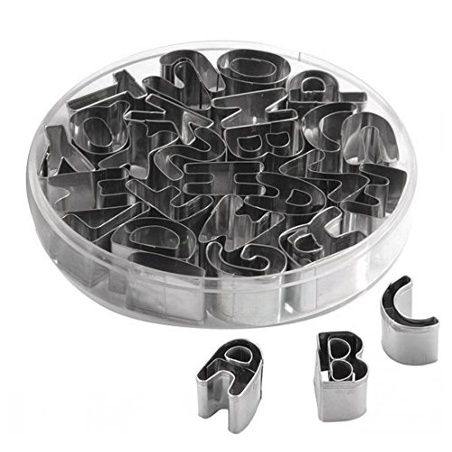Mini Letters (uxcell A to Z 26pcs Stainless Steel Alphabet Letters Biscuit Cookies Cutters Molds Mini Shaped Mould Decorating)