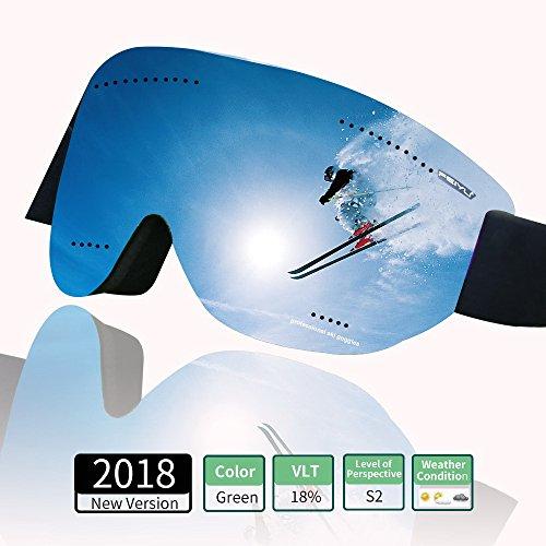 Cosyzone Winter Ski Goggles Over Glasses Fog Proof Snow Goggles for Kids Youth Men Women-100% UV - Glasses Googles