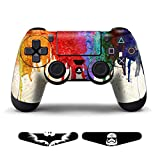 PS4 Skins Playstation 4 Game PS4 Games Decals Sony PS4 Controller Stickers PS4 Accessories Skin Sticker Playstation 4 Controller Dualshock 4 Vinyl Decal + Light Bar Paints by GameXcel