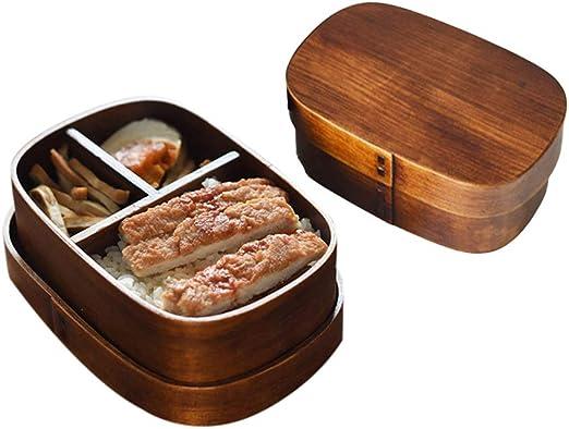 Hebudy Bento - Fiambrera de madera estilo japonés Bento caja ...