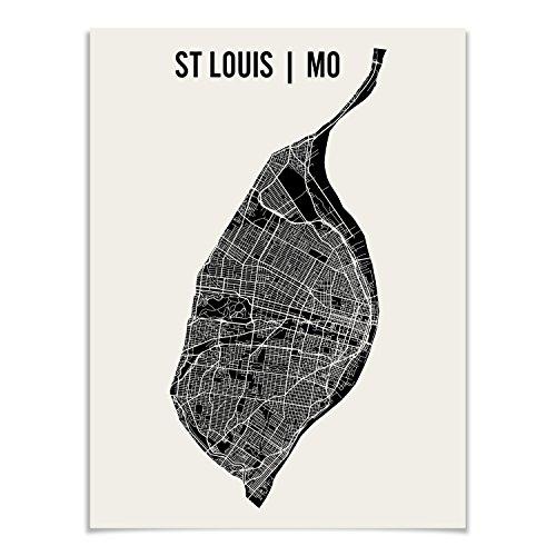 St Louis Map Art Print by Mr City Printing