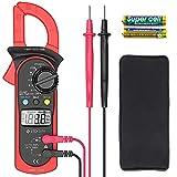 Etekcity - Multímetro digital para amperios y voltímetro con medidor de voltaje con ohmios, continuidad, diodo y resistencia, rango automático, rojo, MSR-C600