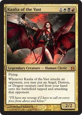 Magic  the Gathering  Kaalia of the Vast  Commander by Wizards of the Coast