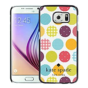 Fashionable And Unique Kate Spade Cover Case For Samsung Galaxy S6 Black Phone Case 245