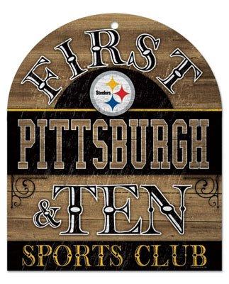 NFL Pittsburgh Steelers 91181010 Wood Club Sign, 10