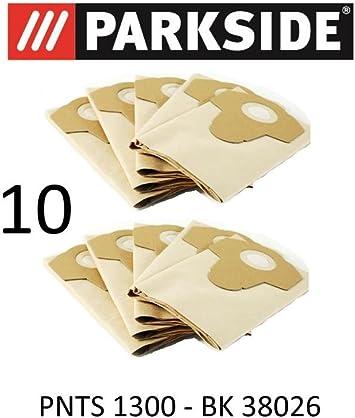 10 Sac Remplacement pour Aspirateur Parkside PNTS 1300
