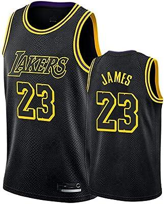 Hombre NBA Lakers 23# James Retro T-Shirt de Baloncesto Camisetas ...