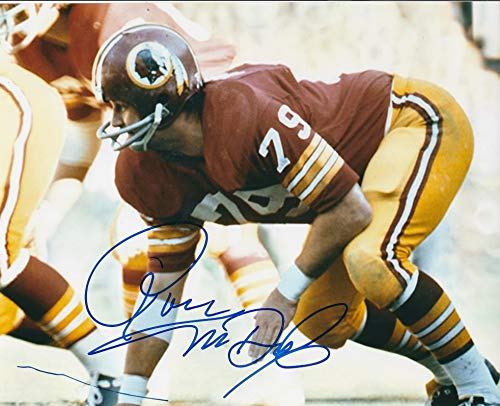 (Autographed Ron McDole 8x10 Washington Redskins Photo )