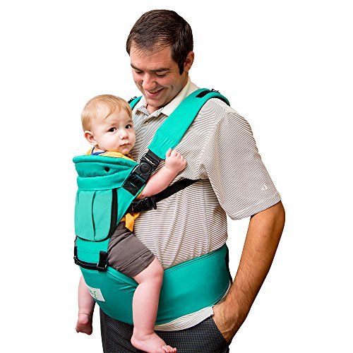 BabySteps Ergonomic Baby Carrier with Hip Seat for All Seasons, 6 Comfortable & Safe Positions for Infant & Toddlers, Adjustable Waistband Maximum 48.8'' , Perfect for Alone Nursing and Hiking