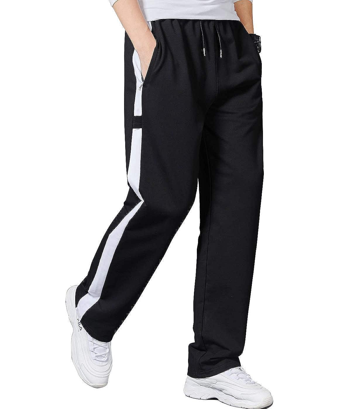 Lachi Hommes Pantalon de Sport Jogging Jogger Fitness Homme Surv/êtement Coton Slim Fit Respirant et L/éger Printemps /Ét/é