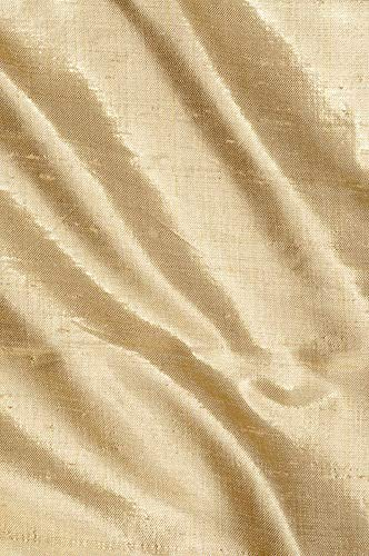 Gold Metallic Shantung Silk Fabric