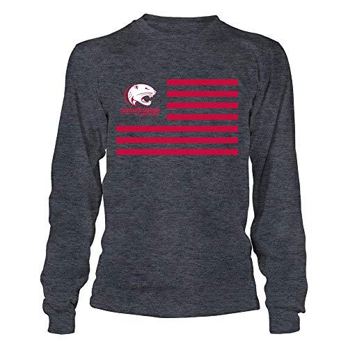 FanPrint South Alabama Jaguars T-Shirt - & Stripes - Longsleeve Tee/Dark Grey/XL