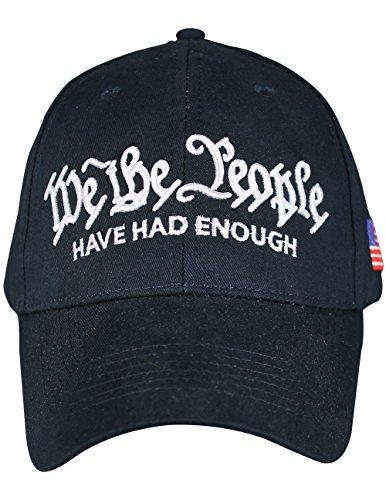 he People Have Had Enough Navy Cap 100% Cotton w/Hook & Loop Backstrap ()
