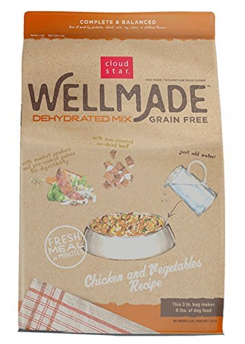 Cloud Star Wellmade Raw Dehydrated Dog Food Chicken & Vegetable 3lb