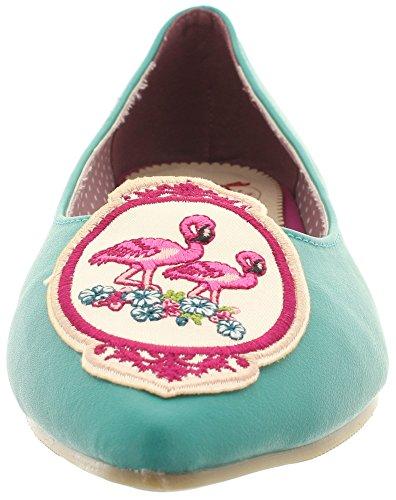 Dancing Days - Bailarinas de Material Sintético para mujer Turquesa - Teal-Flamingo