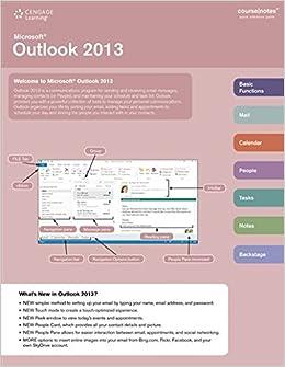 Microsoft Outlook 2013 CourseNotes