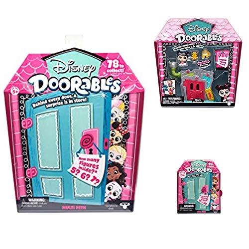 Disney Doorables Mini Stack Playset Boo's Bedroom, Multi Peek and Mini Peek Mystery Bundle
