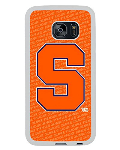 Syracuse Orange White Shell Phone Case Fit For Samsung Galaxy S7 Edge,Beautiful Cover