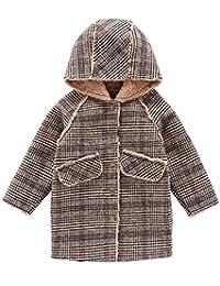 Capturelove Girls Winter Fashion Lamb Fleece Long Jacket Coat