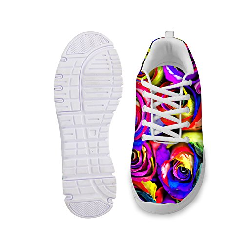 Flower HUGS Womens Stylish 1 IDEA Shoes Fashion Running colorful Sneakers rBq8r