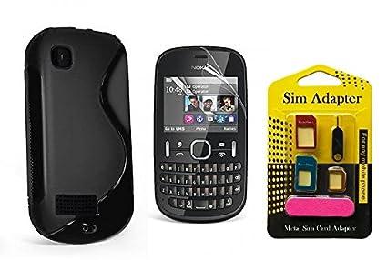 pretty nice e0f11 2cb53 Wellmart Grip Back Cover For Nokia Asha 200 Combo Offer: Amazon.in ...