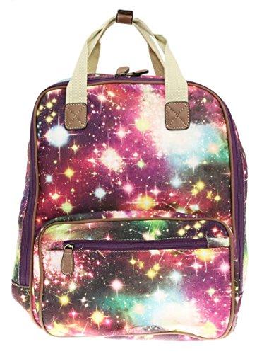 Girly Handbags - Bolso mochila  de Material Sintético para mujer Style 3 Multi