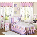 Pink and Purple Butterfly Collection Childrens Bedding 4pc Twin Set by Sweet Jojo Designs