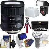 Tamron 24-70mm f/2.8 G2 Di VC USD SP Zoom Lens with 3 UV/CPL/ND8 Filters + Flash + Flex Tripod Kit for Nikon DSLR Cameras