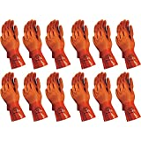 Atlas 620 Vinylove Double-Dipped Large PVC Chemical Resistant Gloves, 12-Pairs