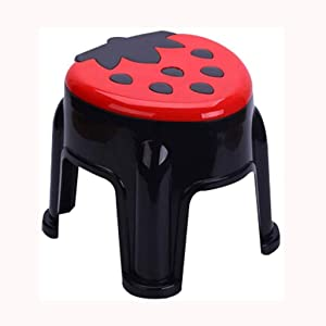 GDBSS Kids Non-Slip Step Stools for Toilet Potty Training, Adult Bathroom Anti-Skid Stool, Toilet Potty Training Bathroom for Brushing Teeth Washing Hands (Color : Black)