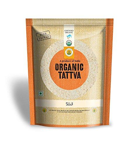 Organic Tattva Semolina Coarse Rawa Suji, 500g USDA Organic Certified
